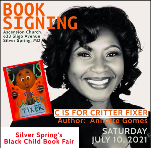 ome out this Saturday,  I will be signing copies of my book.  C is for Critter Fixer  Hope to see you!