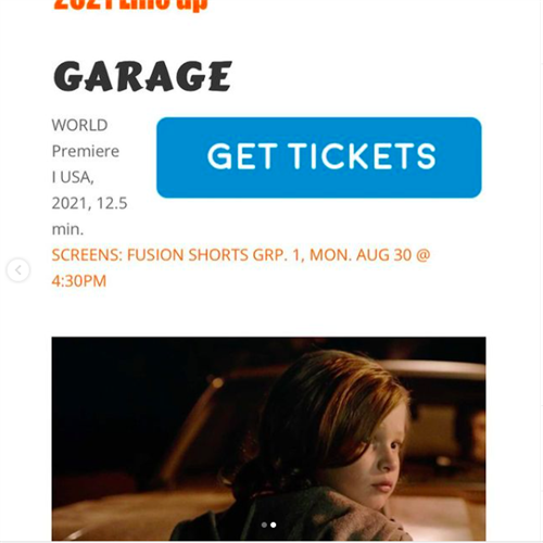 GARAGE is based on film director Aaron Sanders' own life experiences living with untreated childhood trauma. Part of the film's mission is to inspire others to share their stories as a way to aid recovery.