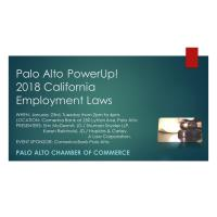 LIVE  Palo Alto PowerUp! New 2018 California Employment Laws