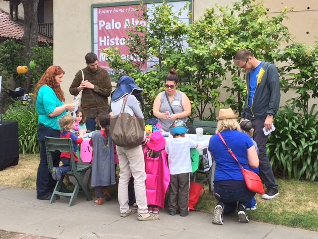 Enjoying kids' activities at May Fete