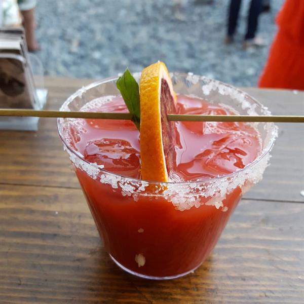 Spruce up your event with a unique signature cocktail! Featured here is a Blood Orange Margarita. Delicious!