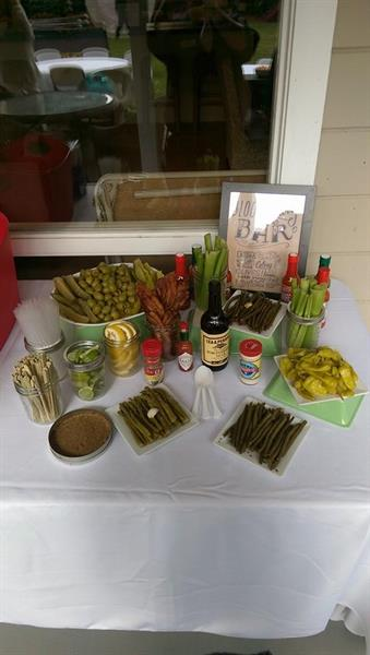 Do-It-Yourself garnish station for a Bloody Mary Party!