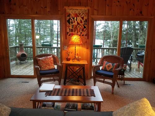 View from living room to Plum Lake