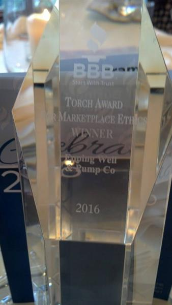 2016 Better Business Bureau Torch Award for Marketplace Ethics