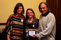 CEO Devi Momot Presented with Chill Recognition by Donna Carpenter and Jake Burton