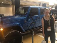 Lindsey with a LifeVantage Jeep.