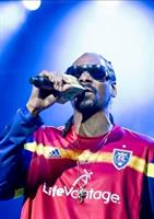 Snoop Dog representing the Real Salt Lake jersey, sponsored by LifeVantage