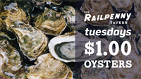Dollar Oysters at The Railpenny