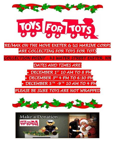 Toys For Tots Request Toys : Remax on the move exeter real estate area