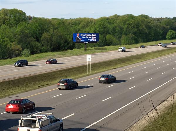 Our I-95 Digital Billboard, as seen heading north into Portsmouth - approaching Exit 3