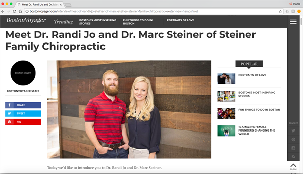 http://bostonvoyager.com/interview/meet-dr-randi-jo-steiner-dr-marc-steiner-steiner-family-chiropractic-exeter-new-hampshire/