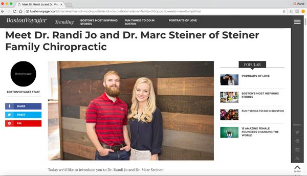 http://bostonvoyager.com/interview/meet-dr-randi-jo-steiner-dr-marc-steiner-steiner-family-chiropractic-exeter-new-hampshire/