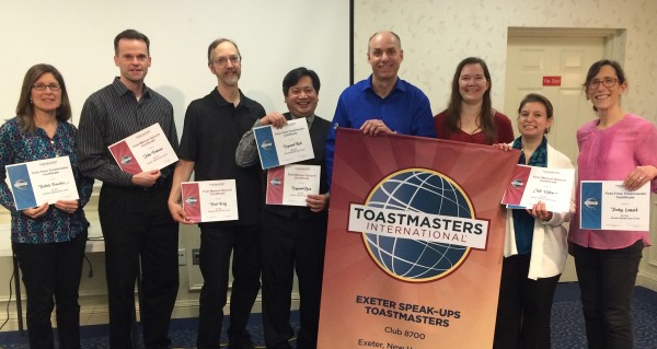 First speech and first-time Toastmaster certificate recipients