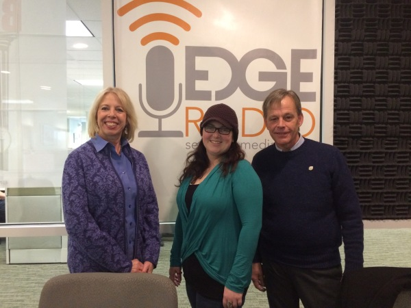 Members Marina Kirsch and Jonathan Bohm interview with Meghan Brady on Edge Radio, Jan. 2017.