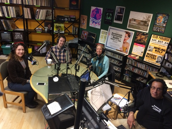 Interview with DJ John Scavo on WSCA radio with Tara Whitney (Exeter Speak-Ups), Jim LaValley (Ad-Libs Club) and Marina Kirsch (Exeter Speak-Ups)