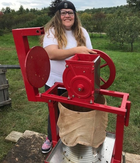 Apple pressing at the farm