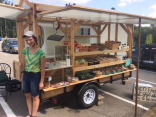 Our mobile farmstand providing fresh veggies to our community