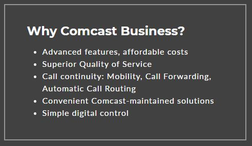 Why Comcast (besides a personal connection)