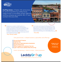 Staffing Sense, of Exeter, NH, announces its recent acquisition by Leddy Group
