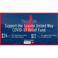 New Hampshire Fisher Cats- GraniteUnited Way COVID-19 Relief Fund