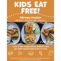 110 Grill - Kids Eat FREE during February 22-24, 2021!