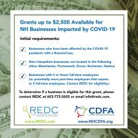 Grants up to $2500 Available for NH Businesses Impacted by COVID-19