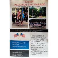 Exeter Memorial Day Parade ~ May 31 ~ 10 am ~ Swasey Parkway, Exeter