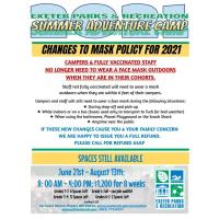 Exeter Parks & Recreation Department - Changes on Mask Policy for 2021