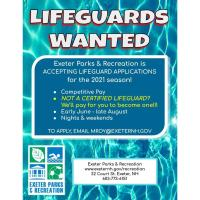 Exeter Parks & Recreation - Lifeguards Wanted