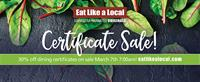 March Dining Certificate Sale