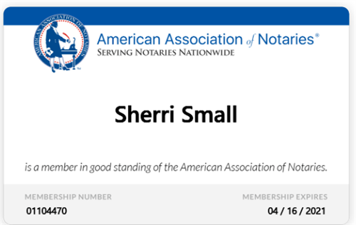 Member: American Association of Notaries