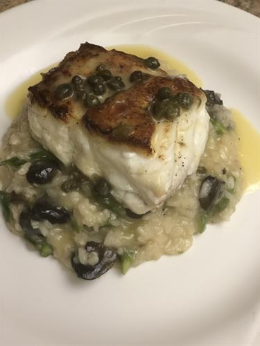 Florida Grouper and Risotto