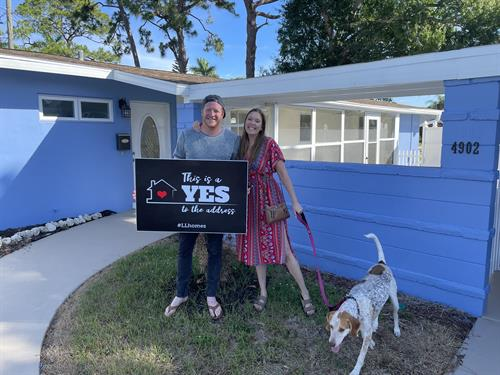 First time home buyers on closing day!