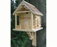 Log Cabin Bluebird House