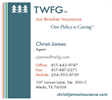 TWFG INSURANCE SERVICES - CHRISTI JAMES