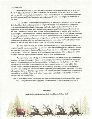 Our 2020 Year End Letter