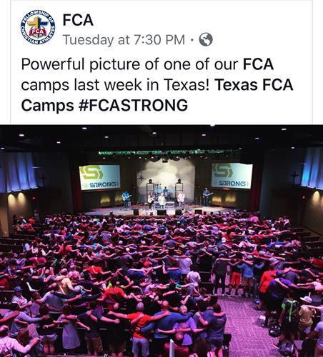FCA camp summer of 2018