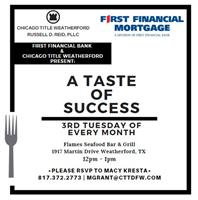 Taste of Success - Monthly Luncheon-Canceled
