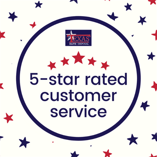 We have a 5-star customer service rating