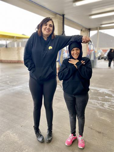 All smiles from our tallest to our shortest employees!