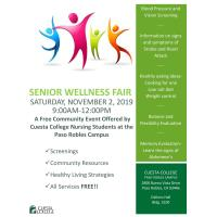 Senior Wellness Fair Hosted by Cuesta College