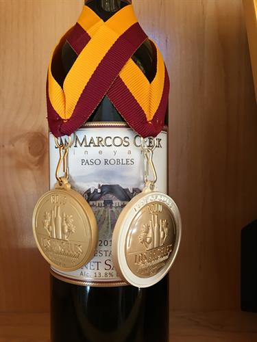 One of our many gold winning wines.