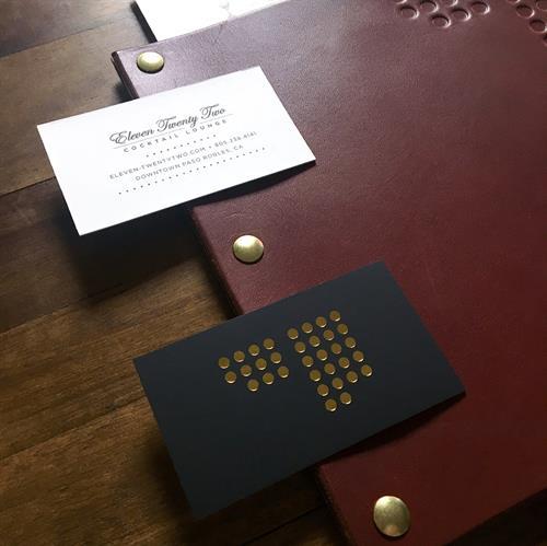 1122 Cocktail Lounge Menu Design and Stationery Design