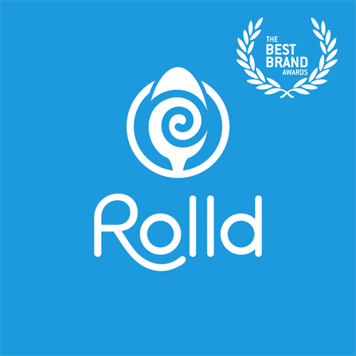 Rolld Ice Cream Logo and Identity Design – Best Brand Award