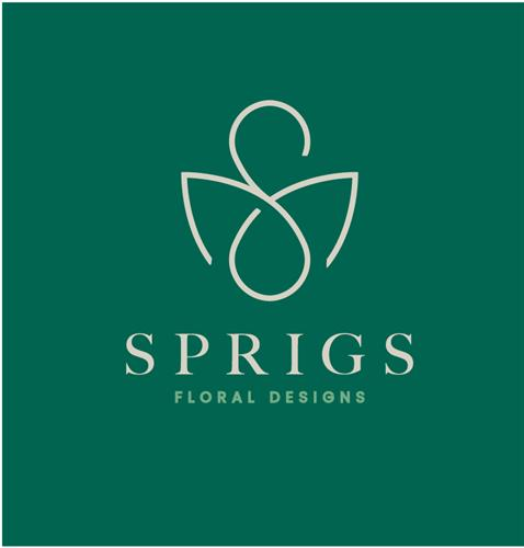 Sprigs Floral Design Logo Design and Brand Identity