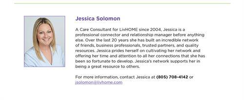 Call Care Consultant Jessica Solomon @ 8057084142