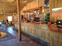 Inside view of the tasting barn