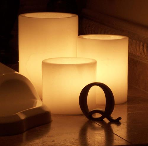 Wax luminaries and flameless candles by Q Candles inc