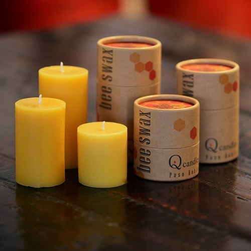 Q Candles - Paso Robles - Pure Beeswax Candle line