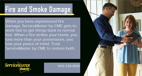 Fire and Smoke damage cleanup process